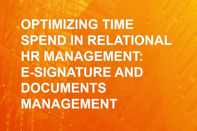 HR analytics - optimizing time spend in relational hr management
